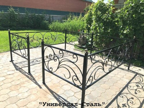 Кованая ограда №125 — фото