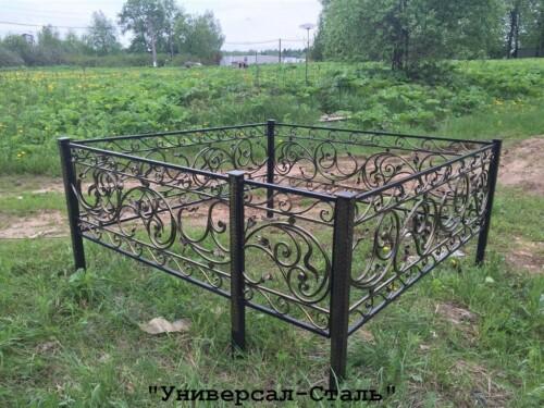 Кованая ограда №129 — фото