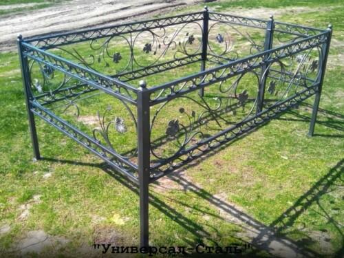Кованая ограда №132 — фото