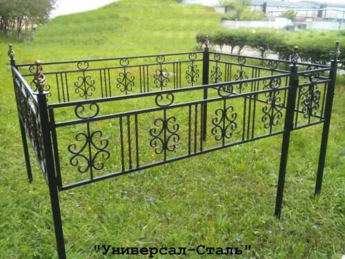 Кованая ограда №134 — фото