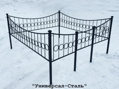 Кованая ограда №16 — фото