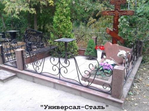 Кованая ограда №166 — фото