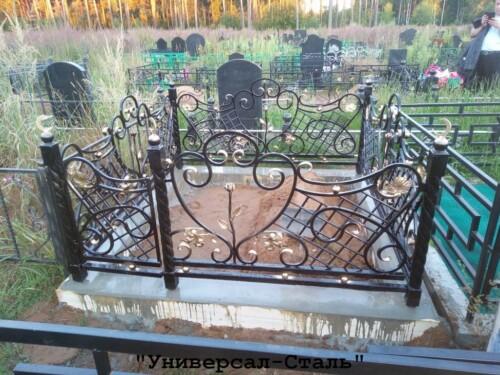 Кованая ограда №167 — фото