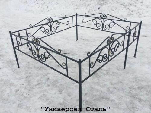 Кованая ограда №17 — фото