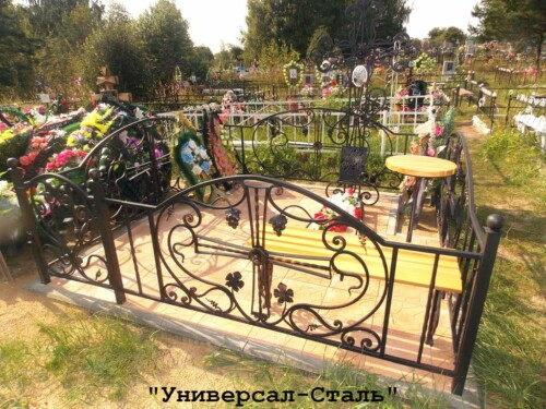 Кованая ограда №173 — фото