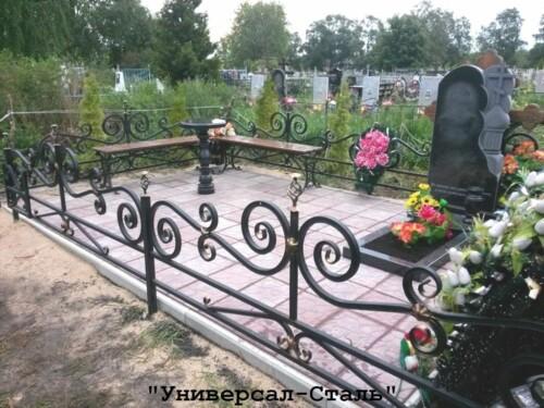 Кованая ограда №175 — фото