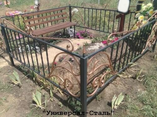 Кованая ограда №181 — фото