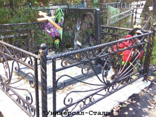 Кованая ограда №185 — фото