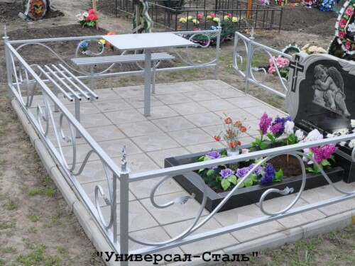 Кованая ограда №186 — фото