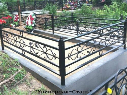 Кованая ограда №187 — фото