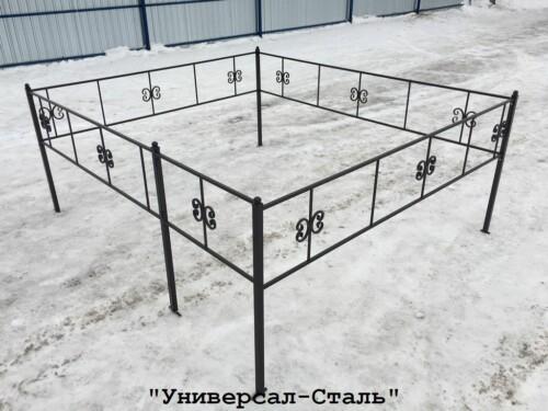 Кованая ограда №19 — фото