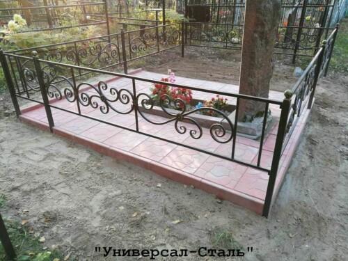 Кованая ограда №205 — фото