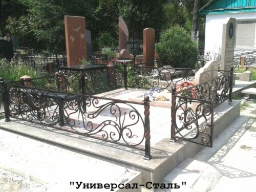 Кованая ограда №206 — фото