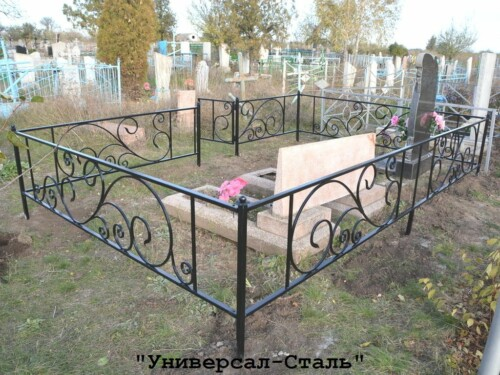 Кованая ограда №207 — фото