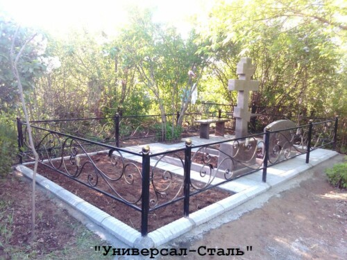 Кованая ограда №208 — фото