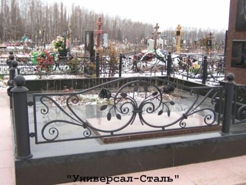 Кованая ограда №209 — фото