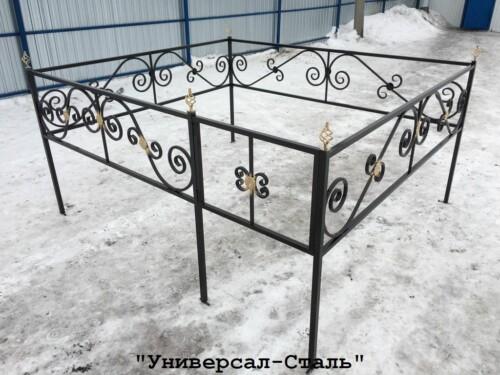 Кованая ограда №21 — фото