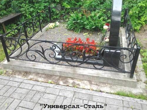 Кованая ограда №211 — фото