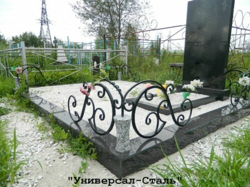 Кованая ограда №233 — фото