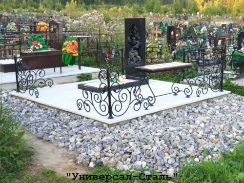 Кованая ограда №238 — фото
