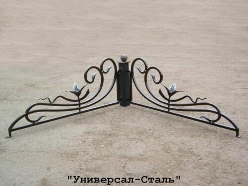 Кованая ограда №250 — фото