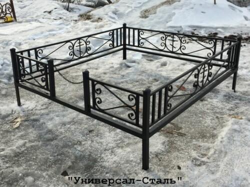 Кованая ограда №28 — фото