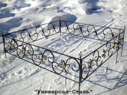 Кованая ограда №33 — фото