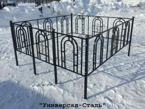 Кованая ограда №35 — фото