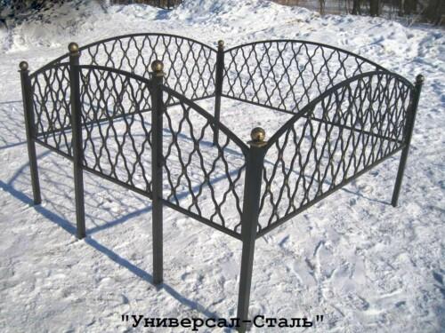 Кованая ограда №36 — фото