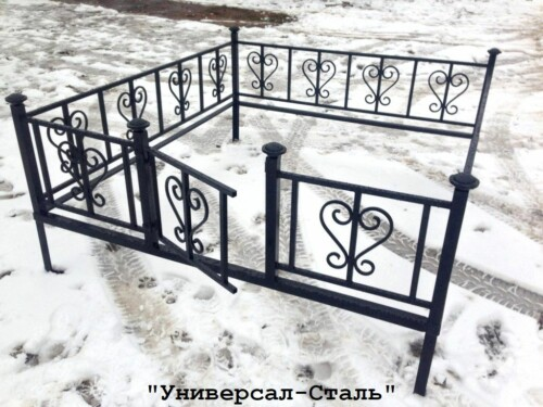 Кованая ограда №37 — фото