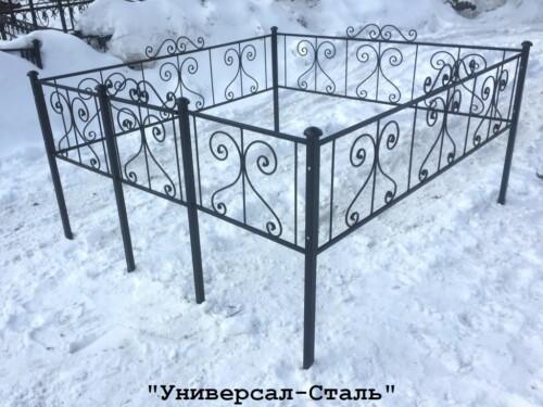 Кованая ограда №40 — фото