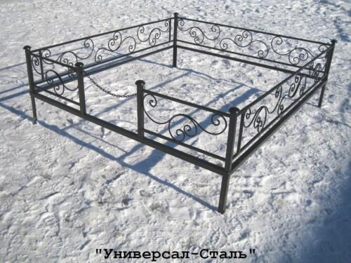 Кованая ограда №46 — фото
