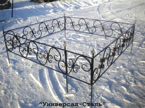Кованая ограда №47 — фото