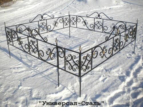 Кованая ограда №48 — фото