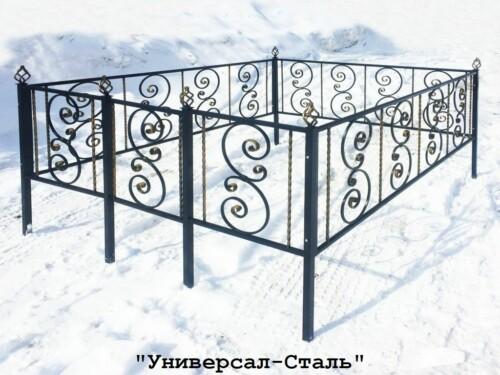 Кованая ограда №49 — фото