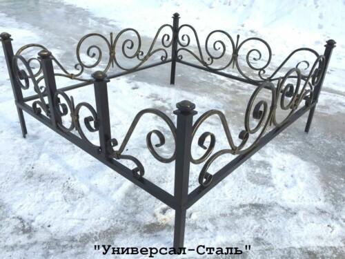 Кованая ограда №52 — фото
