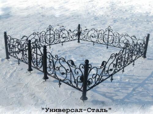 Кованая ограда №58 — фото