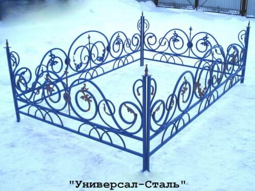 Кованая ограда №61 — фото