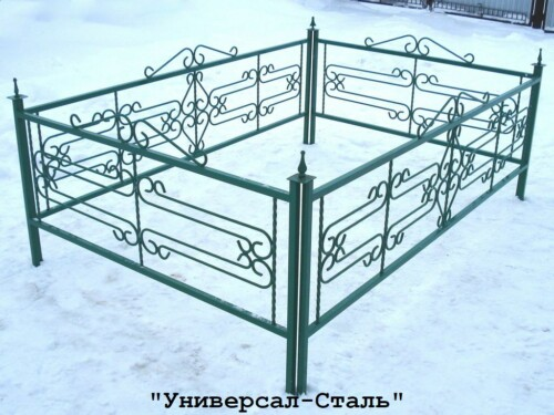 Кованая ограда №62 — фото