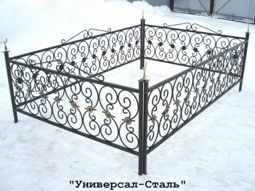 Кованая ограда №63 — фото