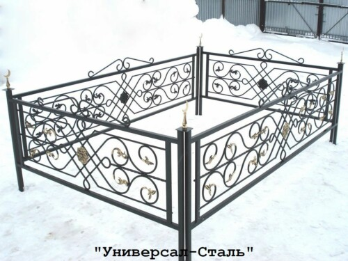 Кованая ограда №64 — фото