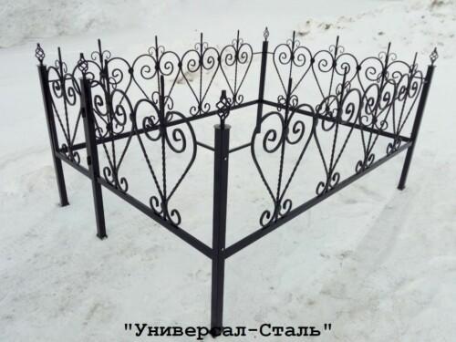 Кованая ограда №66 — фото