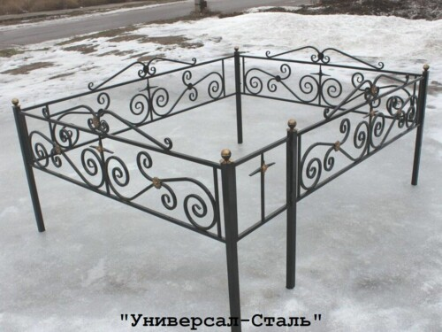 Кованая ограда №68 — фото