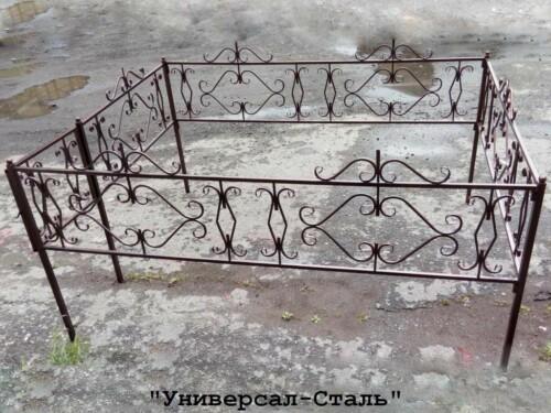 Кованая ограда №74 — фото