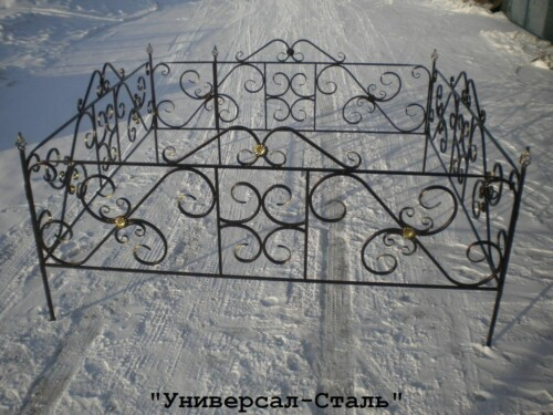 Кованая ограда №75 — фото