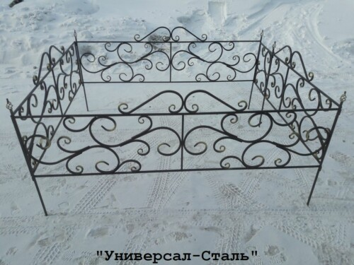 Кованая ограда №76 — фото