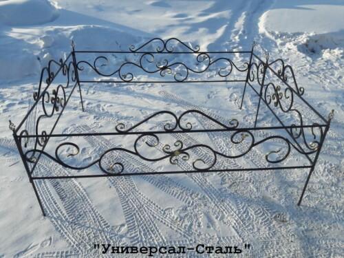 Кованая ограда №77 — фото