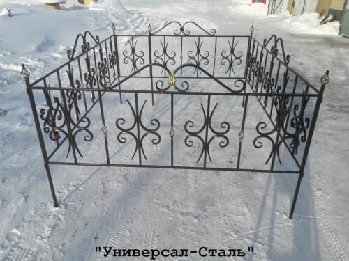 Кованая ограда №81 — фото