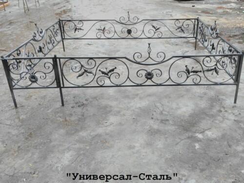Кованая ограда №84 — фото