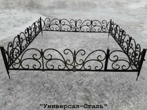 Кованая ограда №85 — фото